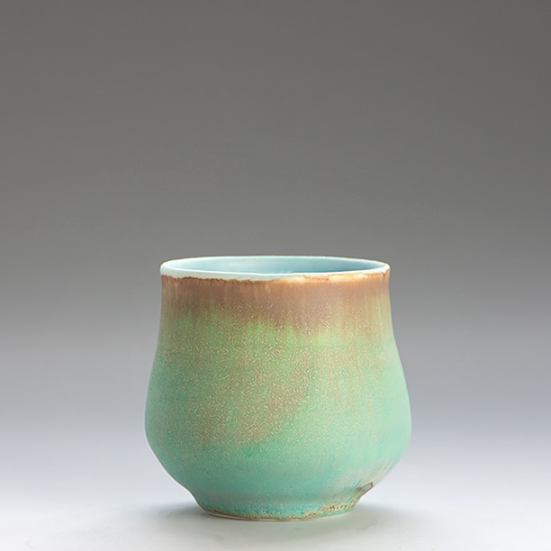 Turquoise banded yunomi