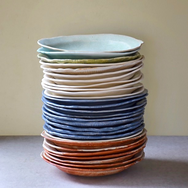 Pinched Starter Plates in various colourways